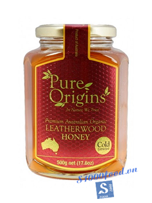 Mật Ong Pure Orgins Leatherwood Hũ 500g
